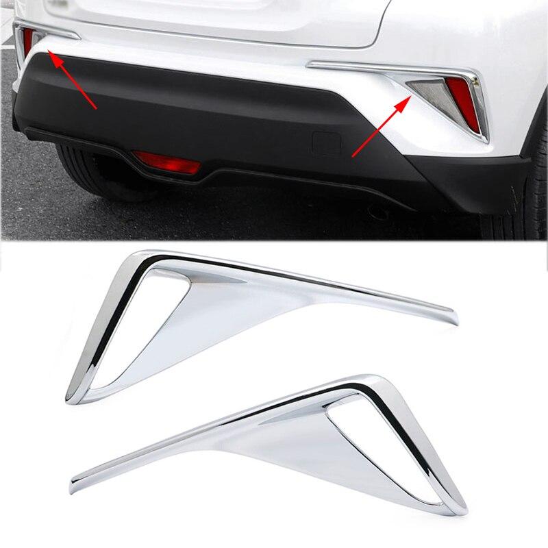 Для Toyota C-HR CHR 2017 2018 2019, хромированная задняя бампер, противотумансветильник фара, крышка, отделка, декоративная рамка, хромированный АБС-плас...