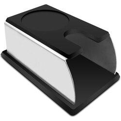 Sağlam paslanmaz çelik silikon Espresso kahve sabotaj standı Barista aracı Tamping tutucu raf raf kahve makinesi aracı siyah