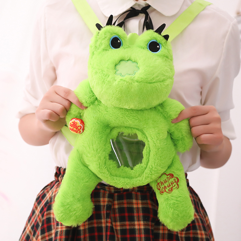 Frog Plush Frog Bag Children's Backpack Cartoon Candy Storage Crossbody Diagonal Become Shoulder Bag School Boy Girl Bag Bagpack
