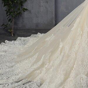 Image 5 - 100% Real Picture Appliques Tulle Mermaid Wedding Dresses Luxury Vestido Noiva Sereia Sexy Robe de Mariee Princesse de Luxe