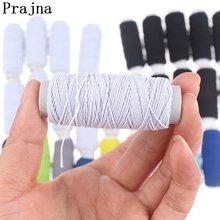 Prajna linha elástica preto e branco 10 rolo conjunto de máquina de costura linha elástica barato para pulseiras miçangas diy acessório