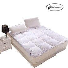 Chpermore 100% ガチョウダウン/フェザーマットレスシングル、ダブル畳ハイグレード高級マットレス家族ベッドカバーキングクイーンサイズ