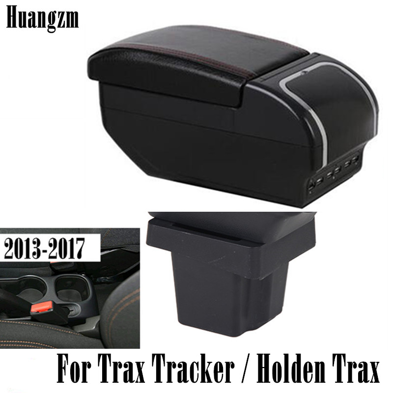 Storage Box For Chevrolet Trax Tracker / Holden Trax 2013-2017 Center Centre Console Armrest With Ashtray 9 USB 2014 2015 2016