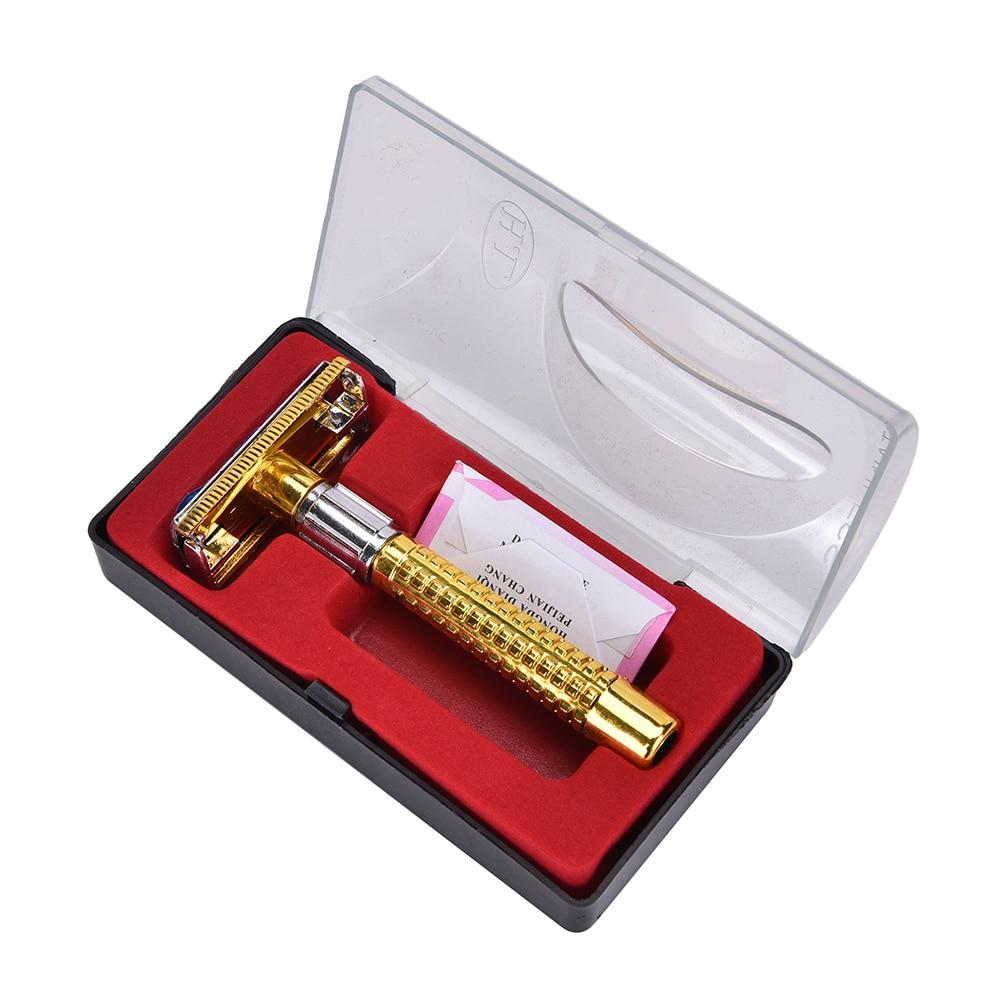 Hot Sale Manual Beard Shaver Double Edge Blade Hair Razor with Box Men Barber Razor sharp tool