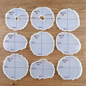 Agat podstawki żywica odlewania formy biżuteria silikonowa Making epoksydowa formy narzędzia rzemieślnicze SDF-SHIP tanie i dobre opinie Aleekit Silicone