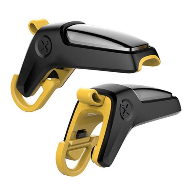 1 زوج الهاتف المحمول أذرع التحكم في ألعاب الفيديو الزناد النار زر الهدف مفتاح ل PUBG L1R1 تحكم المحمول الألعاب مطلق النار المقود دروبشيب