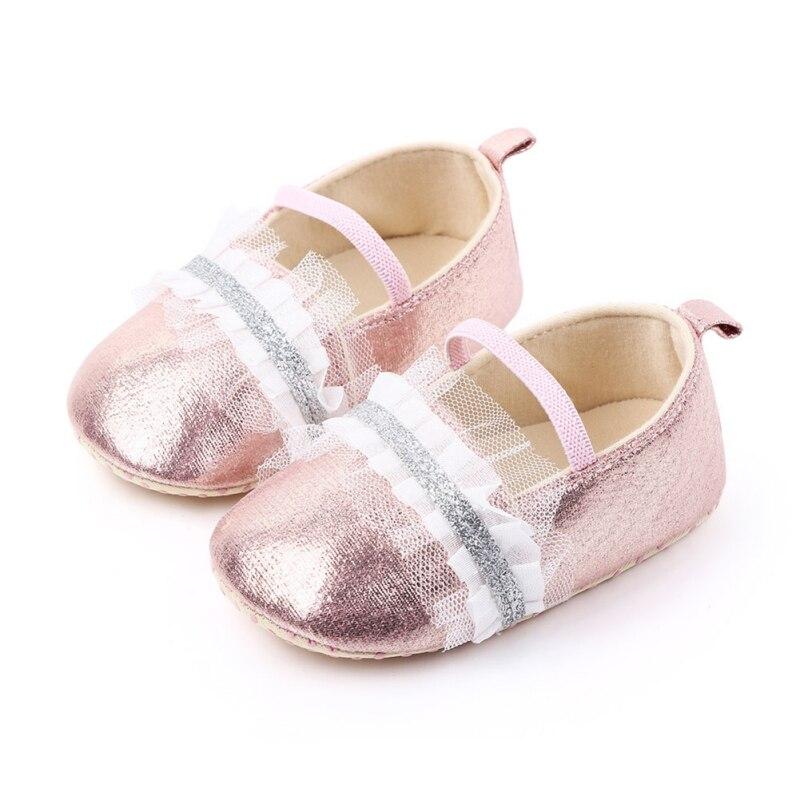 New Baby Prewalker Infant Toddler Girls Princess Shoes Kids Girls Prewalker Anti-slip Soft Sole Shoes First Walkers