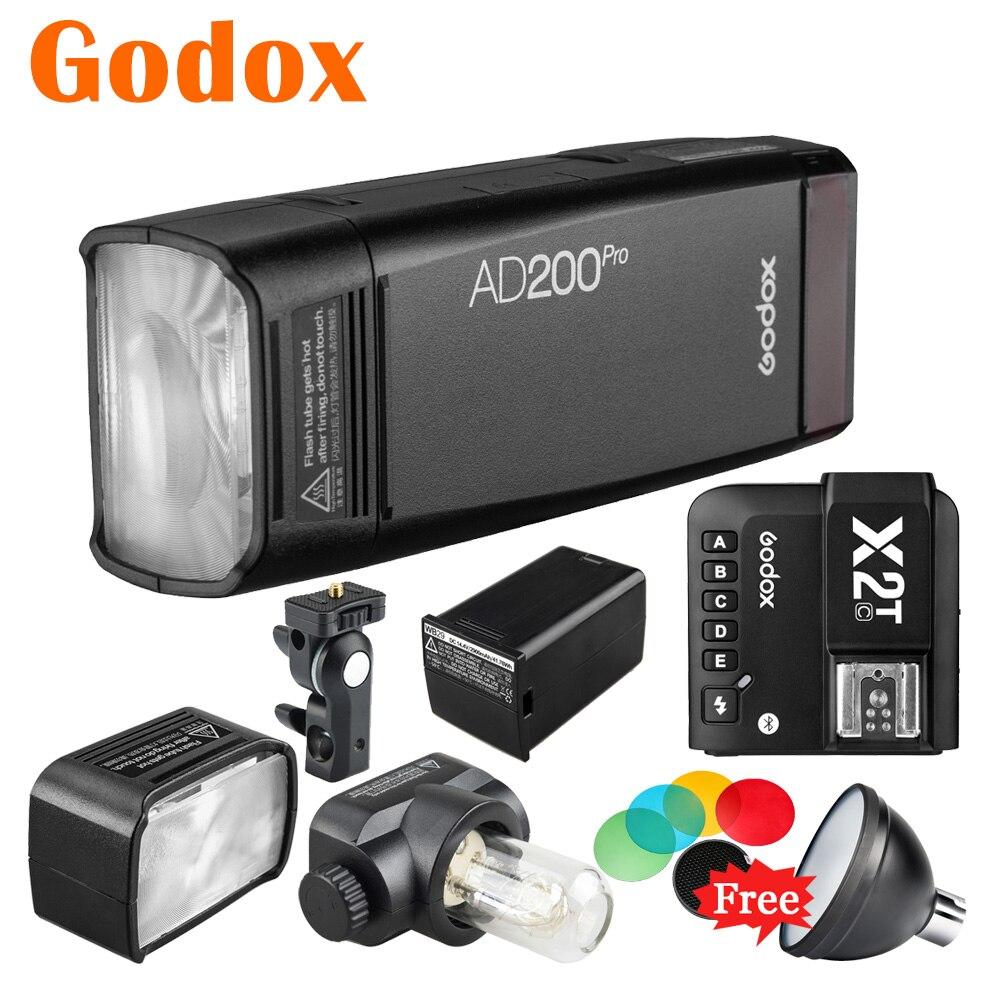 Godox AD200Pro TTL 2,4G двойная карманная вспышка фотовспышка X2T-C/F/N/O/P/S Bluetooth Мобильный передатчик для Canon Nikon Sony Pentax Lumix