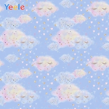 Colorful Cloud Sky Love Newborn Baby Shower Birthday Backdrop Custom Vinyl Photography Background For Photo Studio Photophone paper cloud colour balloon blue sky bird photo studio background vinyl cloth high quality computer printed birthday backdrop