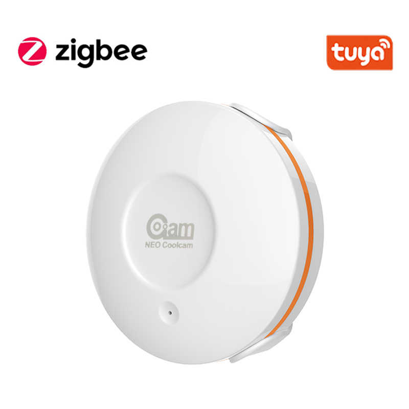 Tuya Zigbee Smart Home Flut Detektor Batterie Powered Wasser Sensor Alarm Arbeitet Mit TUYA Smart Hub