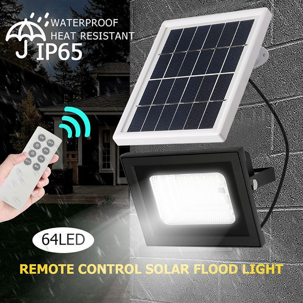 Mpow 42/64LED Outdoor Solar Flood Light Reflector Remote Control Solar Power Waterproof LED For Garden Street Solar Flood Light