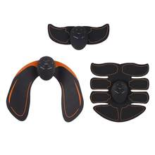 3 Pcs Spierstimulator Abdominale Toning Riem Bil Arm Sticker Volwassenen Ems Draadloze Spier Trainer Home Gym Fitness Apparatuur(China)