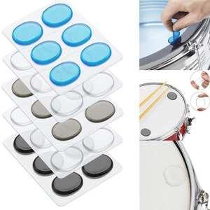 Pads Percussion-Instrument-Accessories Damper Drum Mute Shock-Absorbing-Pad Transparent