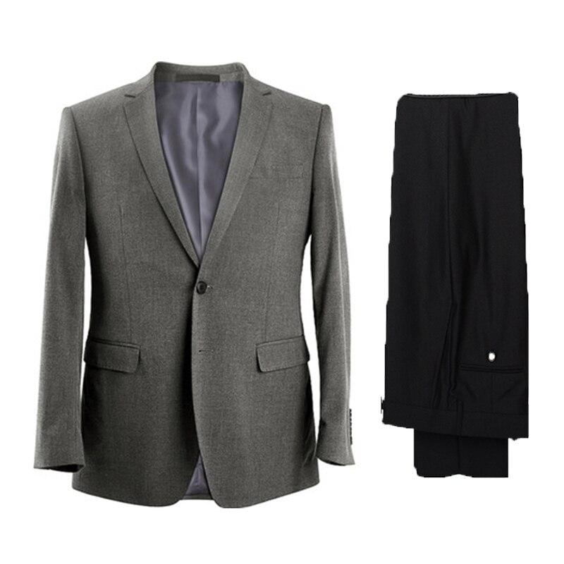 One Button Two Pieces Groom Best ManTuxedo Excellent Men's Wedding Coat For Wedding Dress Dinner Business Dress((Jacket+Pants)
