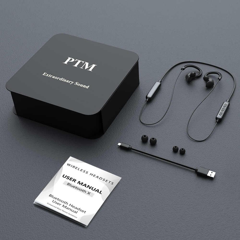 PTM X1 słuchawki bluetooth z pałąkiem na kark słuchawki bezprzewodowe gamingowy zestaw słuchawkowy słuchawki bluetooth z mi c dla iPhone Samsung mi zestaw głośnomówiący