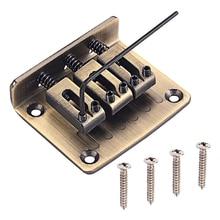 цена на 3 String Chrome Hardtail Adjustable Bridge for Cigar Box Guitar Parts