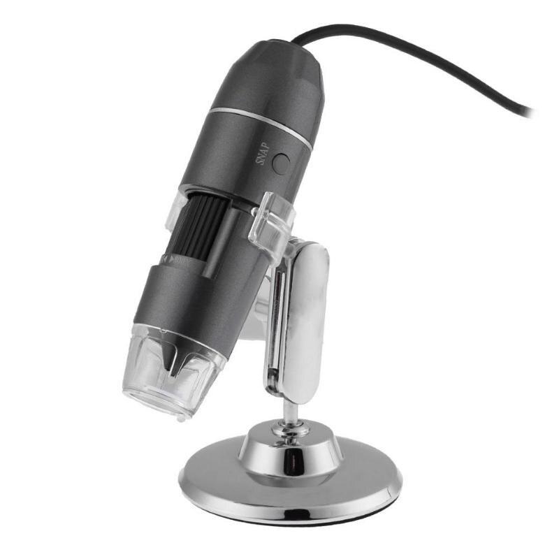 800X/1000X/1600X USB Digital microscopio endoscopio Zoom Cámara lupa + soporte microscopio