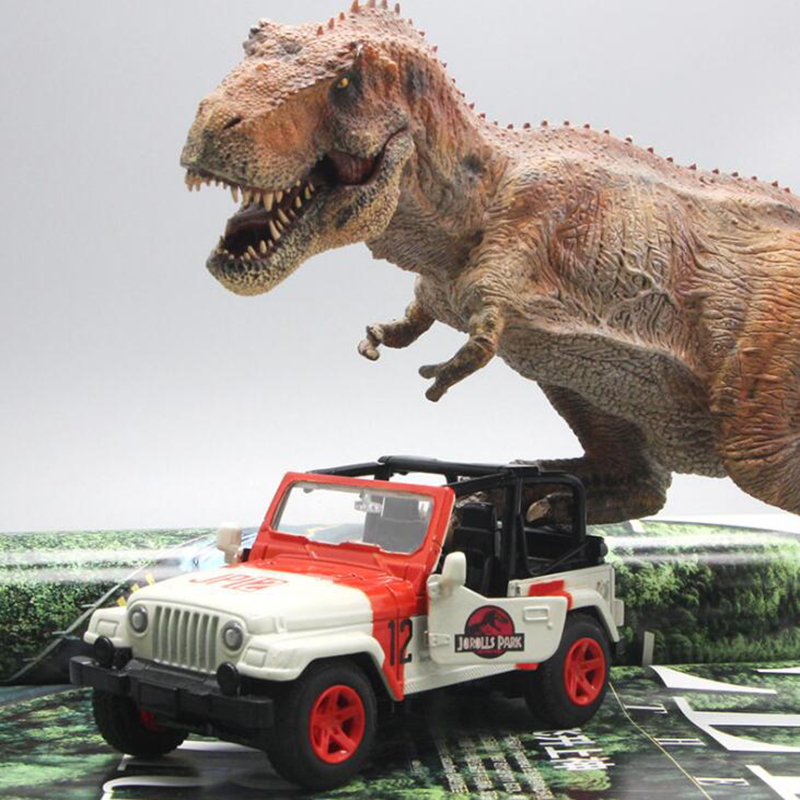 15.5CM 1/32 Scale Alloy Metal Diecast Jeep Wrangler Jurassic Park SUV Auto Car Model Toys For Children Kids Gifts Collection