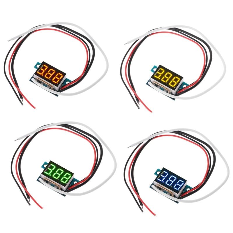 DC 0-10A цифровой светодиодный амперметр панельный измеритель тока 0.36in модуль обратная защита оптовая продажа и Прямая поставка
