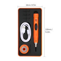 Mini Screwdriver Kit Precision Screwdriver Set Pen Type Cordless Electric Screwdriver with 6pcs Bits High Precision Hand Tools|Electric Screwdrivers| |  -