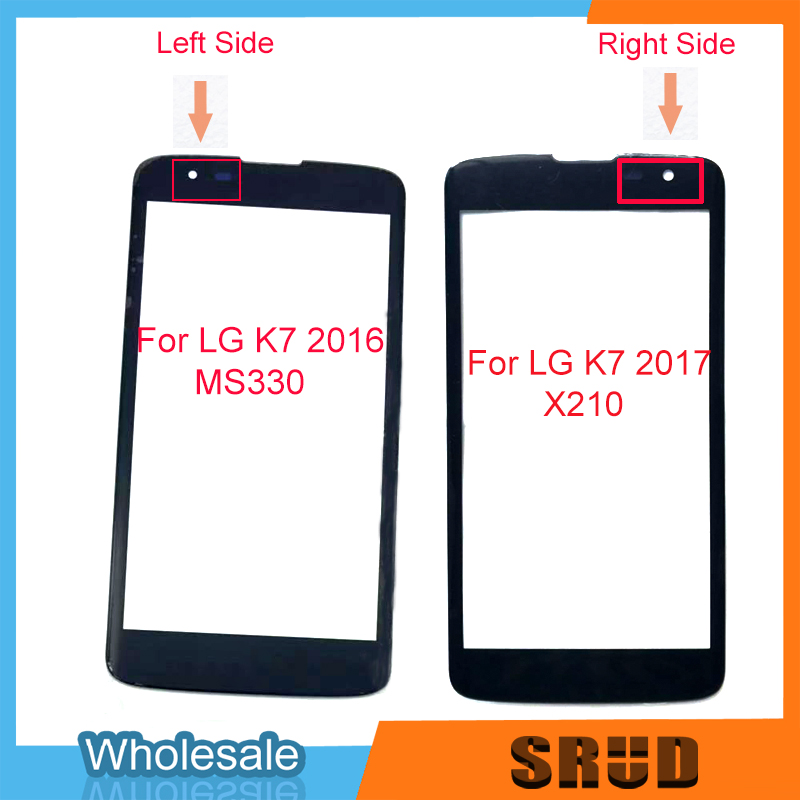 LCD Display Front Outer <font><b>Glass</b></font> Touch Screen 5.0'' For <font><b>LG</b></font> <font><b>K7</b></font> X210 <font><b>X210DS</b></font> MS330 LS675 Touch Panel Phone Spare Parts image