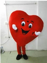 Красный костюм талисмана с сердцем маскарадный нарядное платье