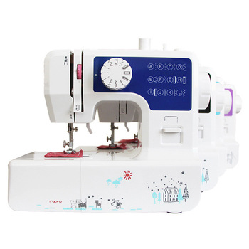 Multi-function Electric Sewing Machine Home Fast Sewing Needle Cordless Clothes Fabric Mini Sewing Machine with Sewing Set фото