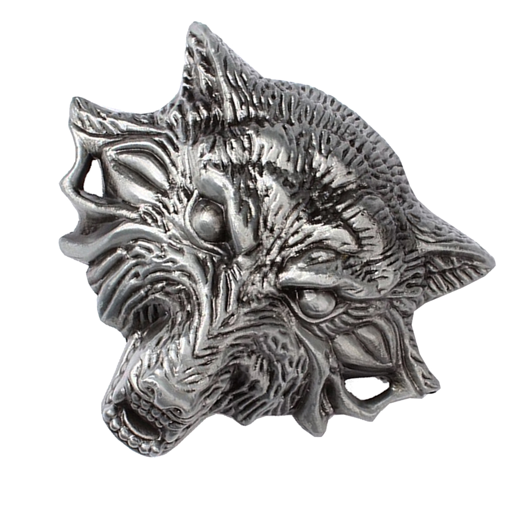 3D Wolf Head Zinc Alloy Mens Belt Buckle Novelty Gift Man Boyfriend Father Good Gift Retro Vintage Western Bult Buckle