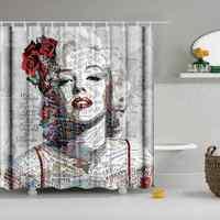 Dafield Мэрилин Монро занавеска для душа сексуальная Мэрилин Монро Печать Женская Ванная комната ванна водонепроницаемый высокий душ занавес...