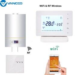 WiFi & RF беспроводной Комнатный Термостат Программируемый Регулятор температуры Газовый Котел Отопление дистанционное управление контроль ...