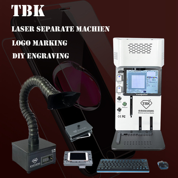 Laser separate machine  for iphone 7 x xr - 11pro max back glass Remover logo marking engraving Frame Cutting separator TBK-958A