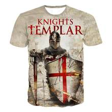 2021 knights templar 3d expresso o-pesco camisa masculina moda manga casual curta cavaleiros templários streetwear har