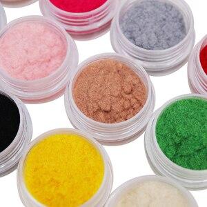 12 Color/Set Velvet Nail Glitter Polish Nail Art Powder Pigment Flocking Velvet Pigment For Nails DIY Decoration Tips