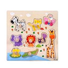 9 pedaço De Madeira Animal Puzzle Aprendizagem Precoce Do Bebê Crianças Brinquedos Educativos Crianças Brinquedos Para Crianças Brinquedos Игрушки
