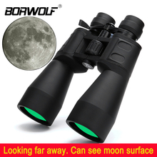 Borwolf 10 380X100 عالية التكبير طويلة المدى التكبير 10 60 مرات الصيد تلسكوب مناظير HD المهنية التكبير