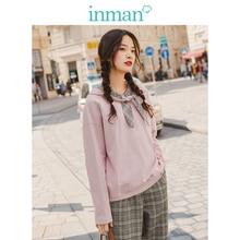 Sudaderas con capucha literarias holgadas lisas para chicas jóvenes con bonito contraste de encaje primavera otoño INMAN