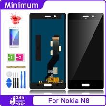 """Dla Nokia 8 N8 TA 1012 wyświetlacz LCD + ekran dotykowy wymiana zespołu Digitizer dla Nokia8 TA 1004 TA 1052 5.3 """"ekran LCD"""