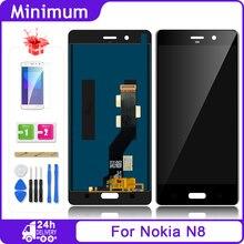 شاشة عرض LCD لهاتف نوكيا 8 N8 TA 1012 + مجموعة رقمية تعمل باللمس قطع غيار لهاتف Nokia8 TA 1004 TA 1052 شاشة LCD 5.3 بوصة