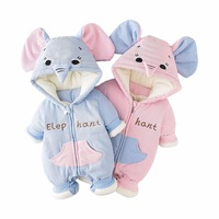 Baby Clothes Baby Rompers Newborn Baby Winter Rompers Elephant Paded Romper Boy Girls Clothes Infant Jumpsuits 6m~24m 20