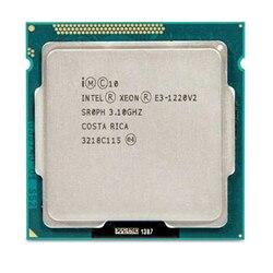 インテル Xeon プロセッサ E3-1220 v2 E3 1220 v2 (8 メートルキャッシュ、 3.1 ギガヘルツ) クアッドコアプロセッサ LGA1155 PC コンピュータのデスクトップ Cpu