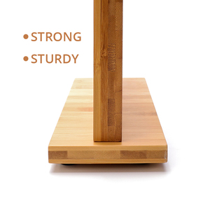 Image 2 - Магнитный держатель для ножей с мощным магнитом, большой бамбуковый деревянный блок для ножей без ножей, двухсторонний Универсальный блок для ножей