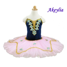 Adult navy blue velvet top ballet tutus,Pink romantic tutu dance costumes girl ballerina costume for baby
