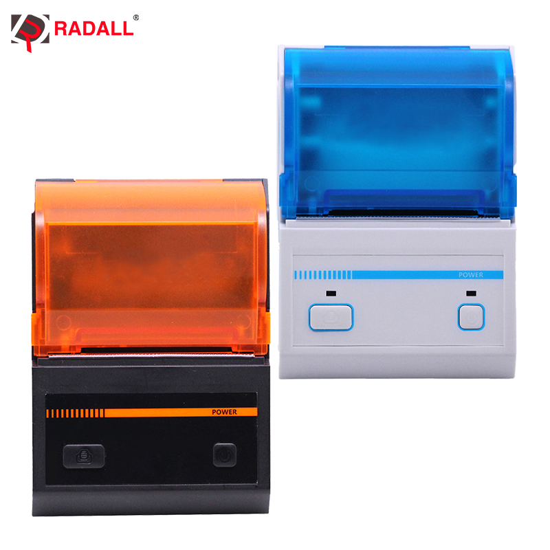 RD-C58S 58mm Thermal Label Printer Support Android/IOS System USB/Bluetooth Printer Mini Pocket Printer Bar Code Maker