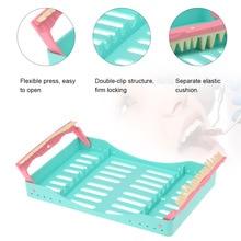 Dental Plastic Sterilization Rack Surgical Instrument Disinfection Box Autoclave Cassette Burs Disinfection Holder Dental Tool