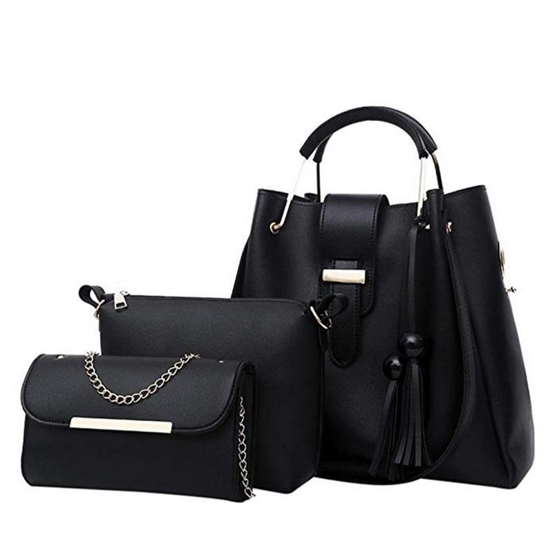 Dihope  4pcs Women Handbag Set Messenger Bags Ladies Fashion Shoulder Bag Lady PU Leather Casual Female Shopper Tote Sac Femme