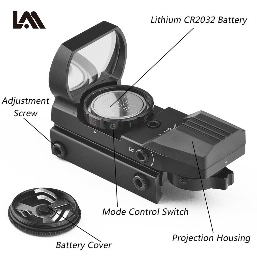 Laserspeed holográfica red e green dot sight