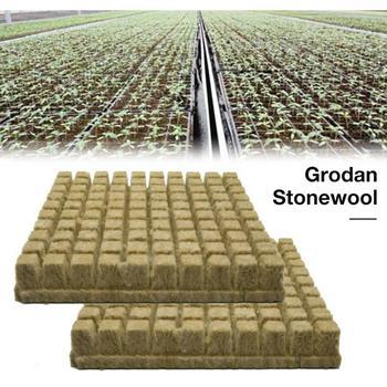 25/50/100pcs Rockwool Sheet Block Propagation Cloning Seed Raising Soilless Cultivation Hydroponic 25x25x40MM