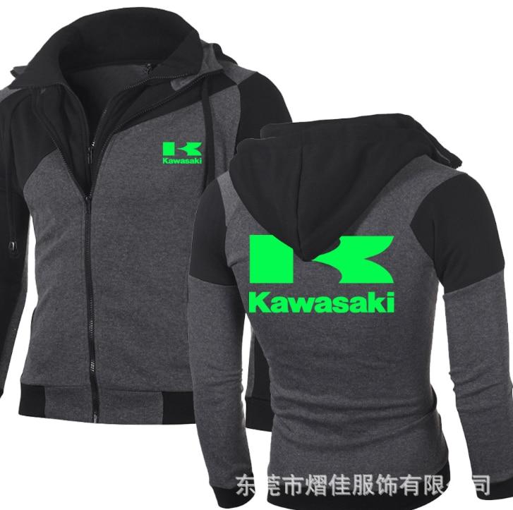Fashion Men winter foSuzuki R Motorcycle Hoodies Kawasaki Sweatshirts Cotton Casual Repsol Zip Male Hooded coats men jackets