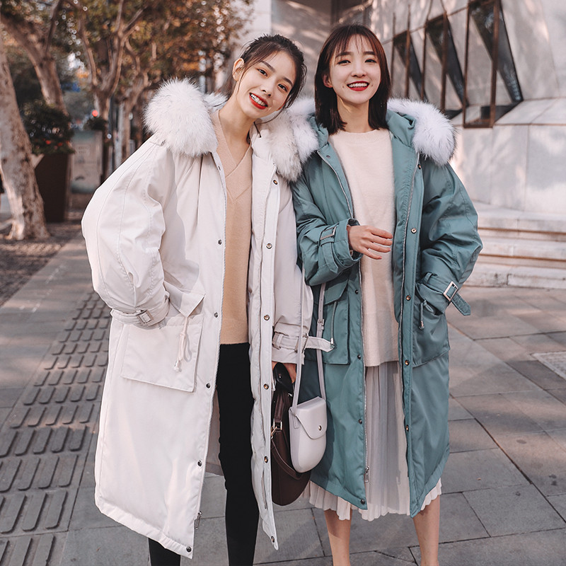 Down Jacket Cotton-padded Clothes Women's Mid-length 2019 Winter New Style Cotton-padded Jacket Korean-style Loose-Fit Coat Wome