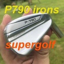 2020 original novo ferros de golfe oem qualidade p790 ferros (3 4 5 6 7 8 9 p) com ns pro 950 eixo rígido clubes de golfe reais